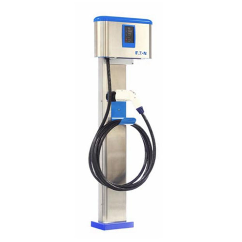 Eaton Level 2 With Single Mount Pedestal Metro Plug In Your Ev Charging Solution