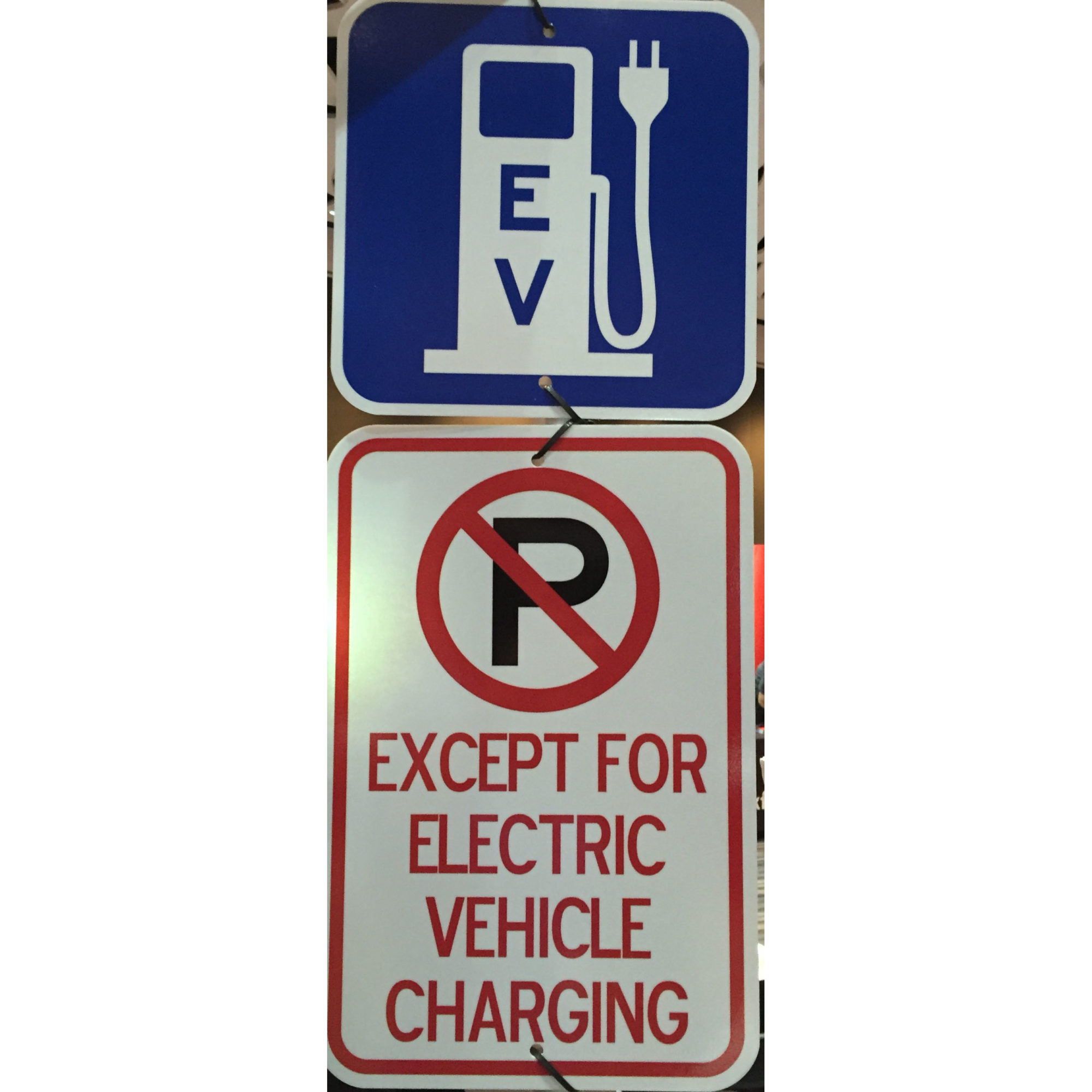 Blue Ev No Parking Except While Charging Set Metro